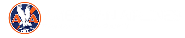 Logo WHITE American Airlines Flagship of