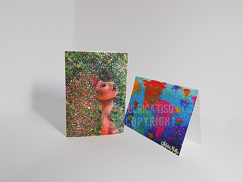 Pack of x4 A6 or A5 Non- Collection Printed Card and Envelopes