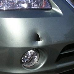 bumper hole - before