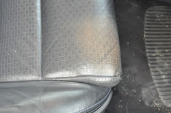 leather discolouration - before