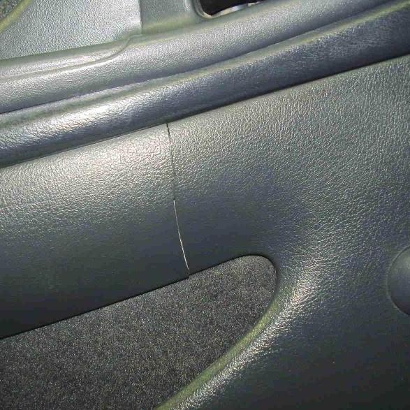 door trim crack - before