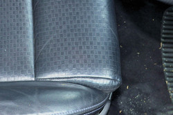 leather discolouration - after