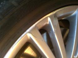rim repair - before