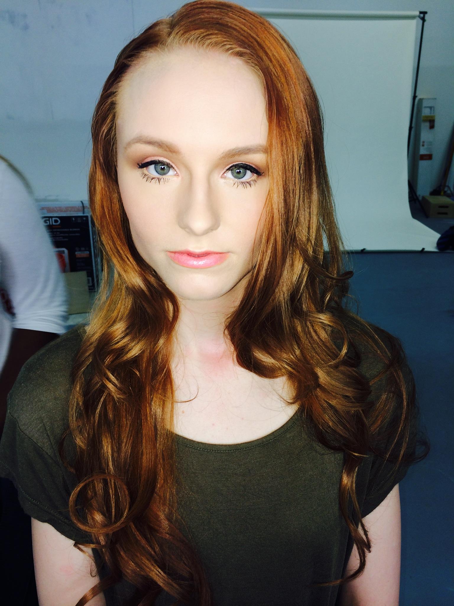 Makeup by Moni P on set