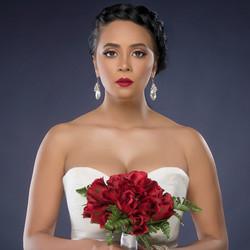 Bridal portrait makeup by Moni