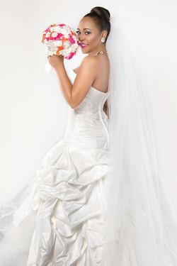 Bridal portrait makeup by Moni P