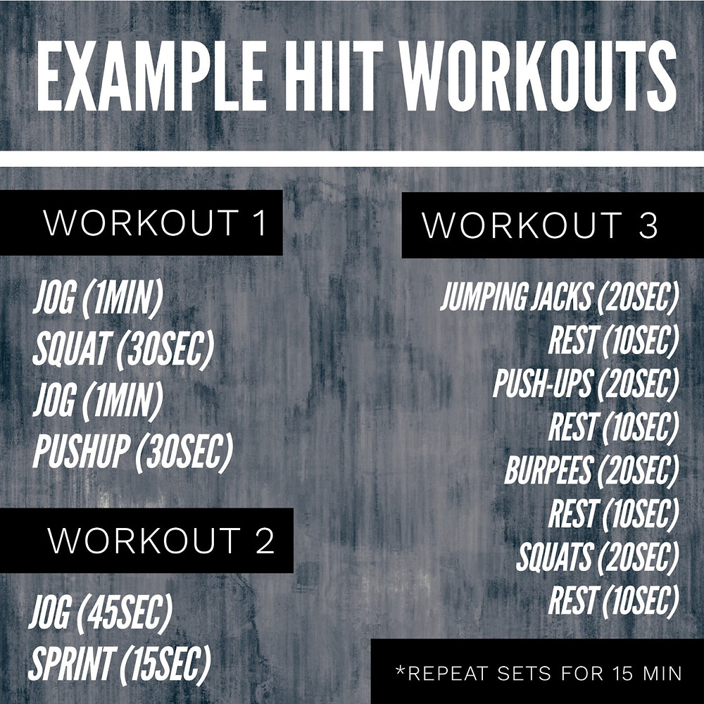 Example HIIT Workouts high intensity interval training