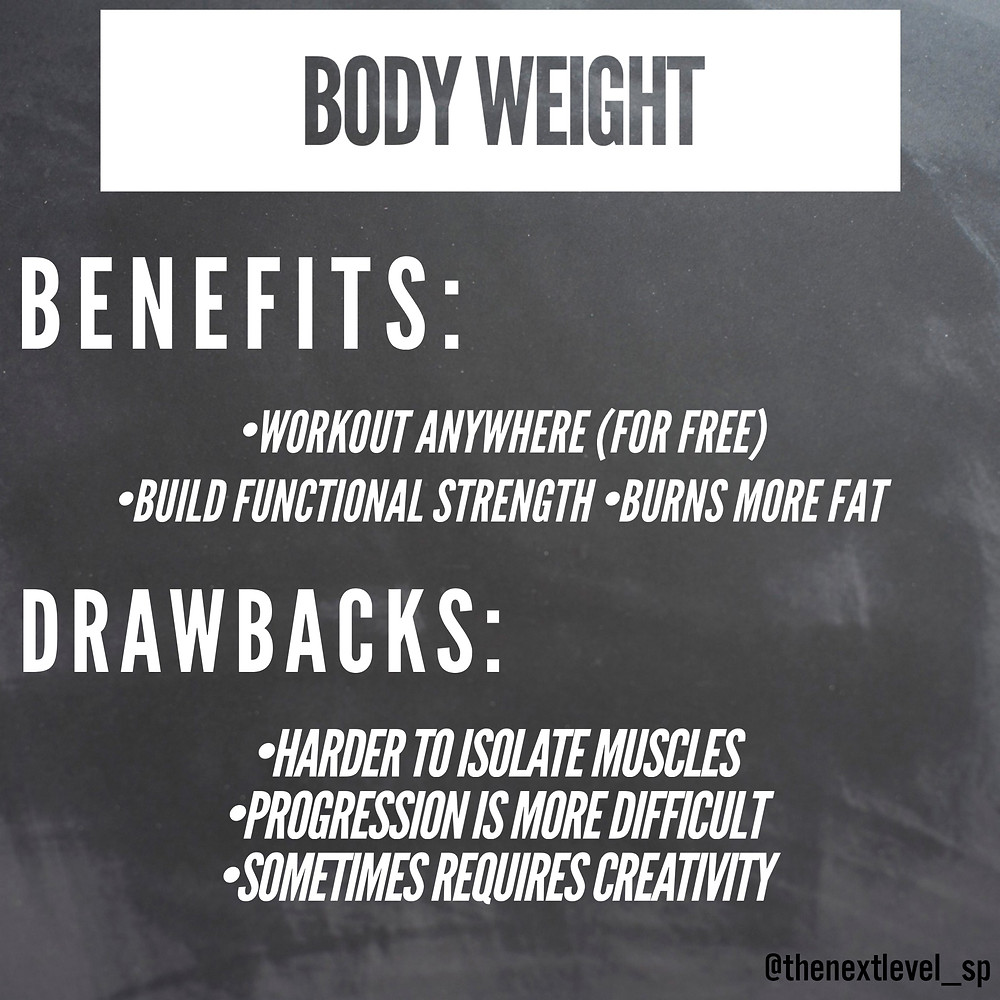 body weight pros and cons