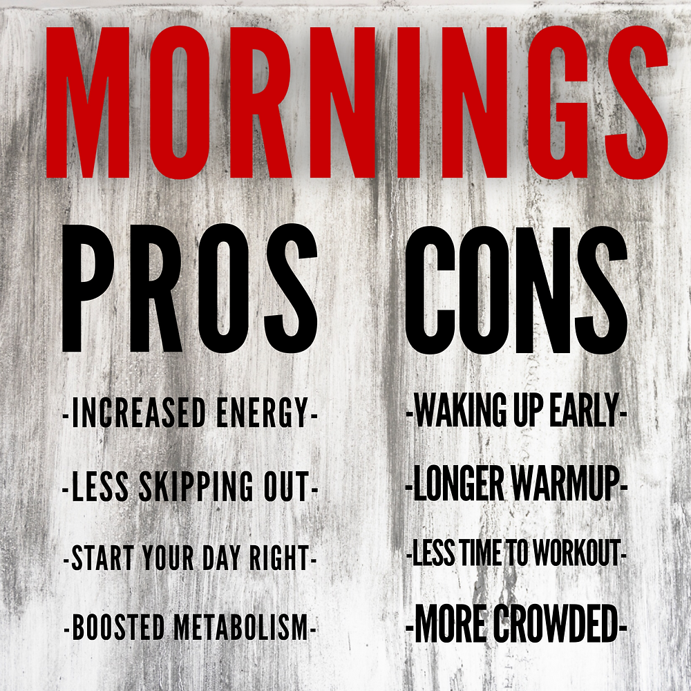 pros and cons of working out in the morning