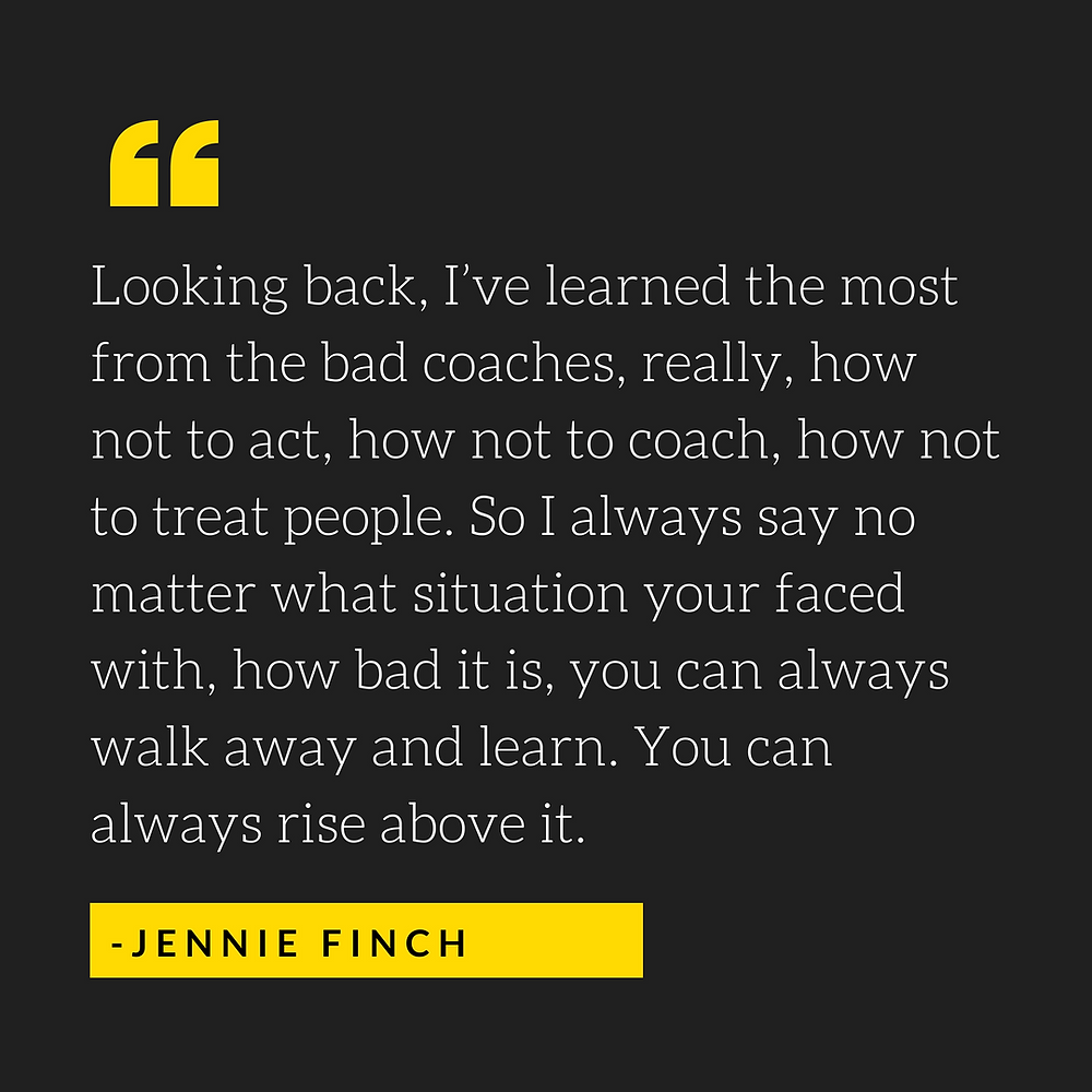 Jennie finch quote about coaching