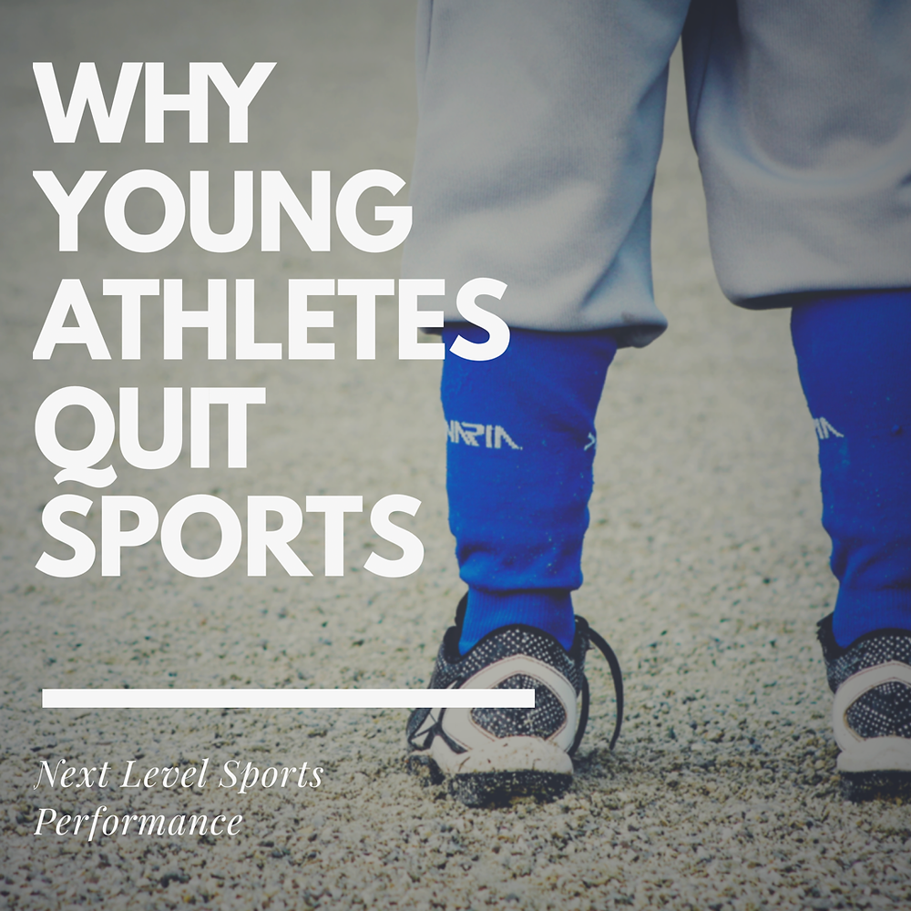 why young athletes quit sports kids quitting sports