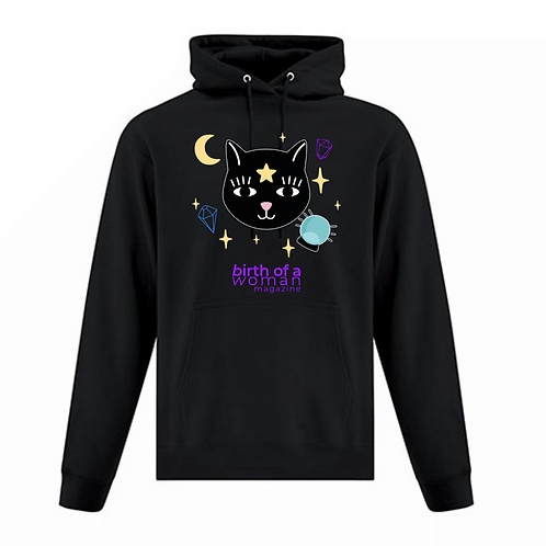 Witchy Cat Hoodie Birth of a Woman Magazine