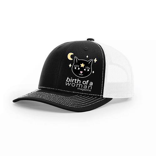 Cat Baseball Hat Birth of a Woman Magazine Logo