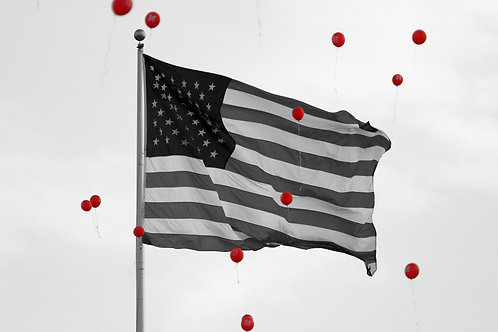 US Flag and Balloons