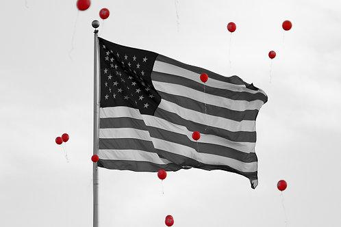 US Flag and Balloons