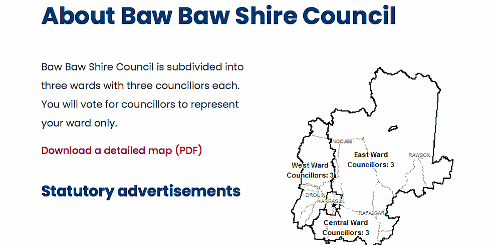 Baw Baw Shire election- East Ward Meet the Candidates session