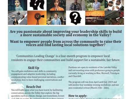 Communities Leading Change: free training program - applications open!