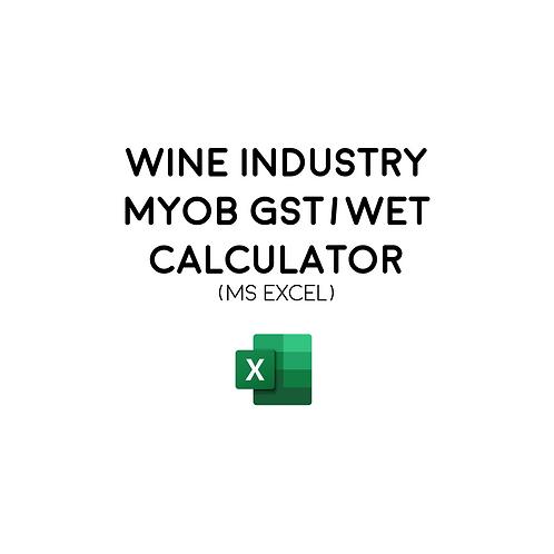 Wine Industry MYOB GST/WET Calculator