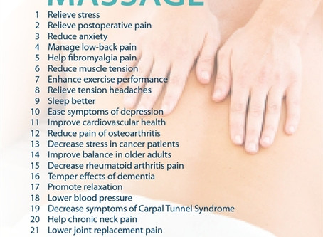25 reasons to get a massage according to the AMTA