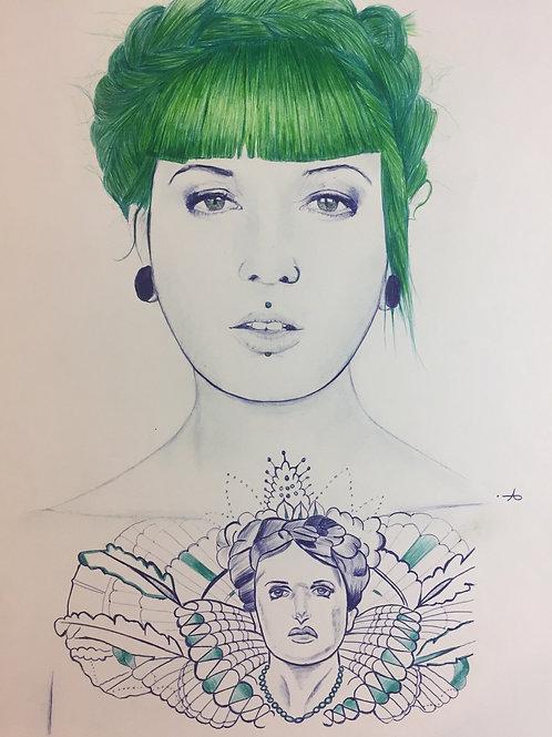 Portrait green