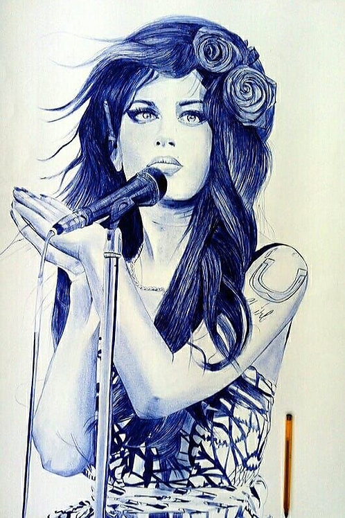Amy Winehouse bleu