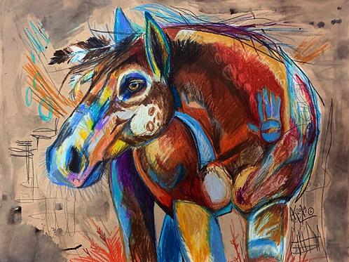 War Pony No. 1 - Original Drawing