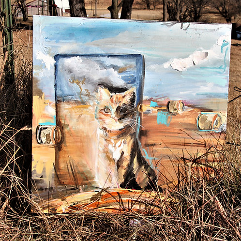Vermin Control in Baled Field- Original Painting