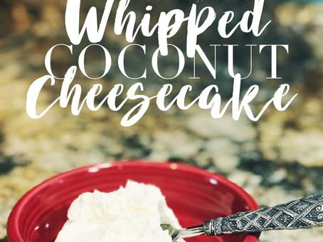 Recipe | Keto-Friendly, No-Bake Whipped Coconut Cheesecake