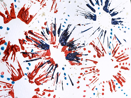Easy 4th of July Fireworks Art