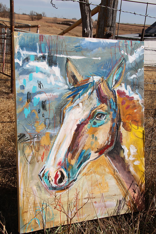 Buckskin Portrait - Original Painting