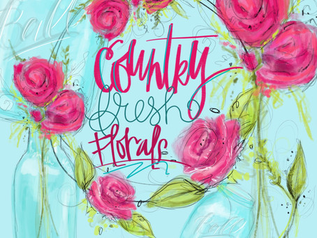 Free Downloadable Illustration Set: Country Fresh Florals
