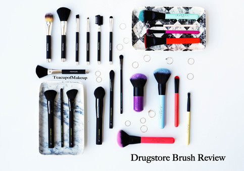 Drugstore Brushes Comparison - Manicare, Lottie London & Lab2Beauty
