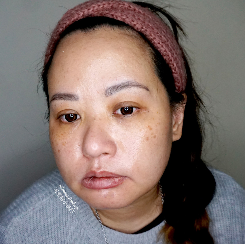 Before, After and under Makeup