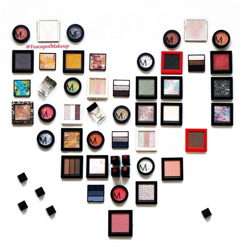 A Pixelated Heart made of Makeupstore Products