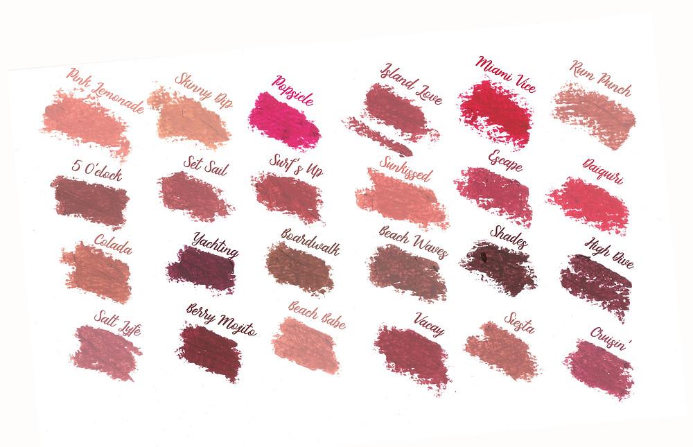 Tarte Color Splash Lipstick Swatches