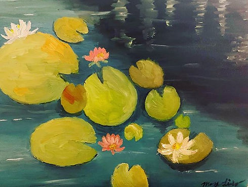 #lilypad#lotus#painting#lake#nature#canv