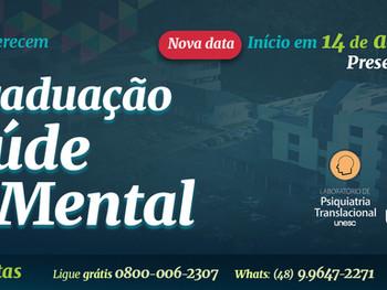 InJQ e Unesc lançam Pós-Graduação em Saúde Mental com aula inaugural gratuita