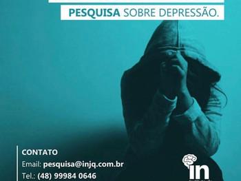 InJQ busca voluntários para pesquisa sobre depressão.