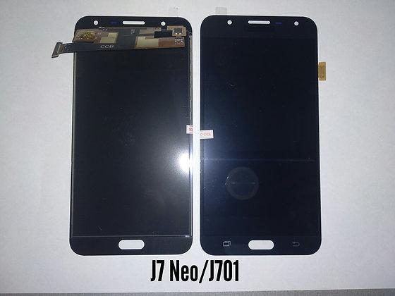 Дисплей для Samsung J7 Neo/J701 + Touch чёрный (регулируемая подсветка)