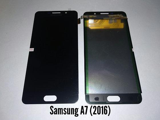 Дисплей для Samsung A7 (2016)/A710H + Touch чёрный  (регулируемая подсветка