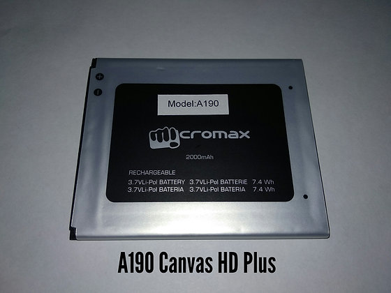 АКБ для Micromax A190 (Canvas HD Plus)