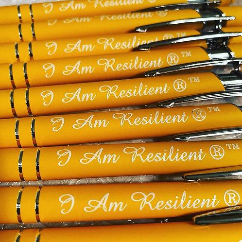 "Custom ""I Am Resilient"" Ink Pen"