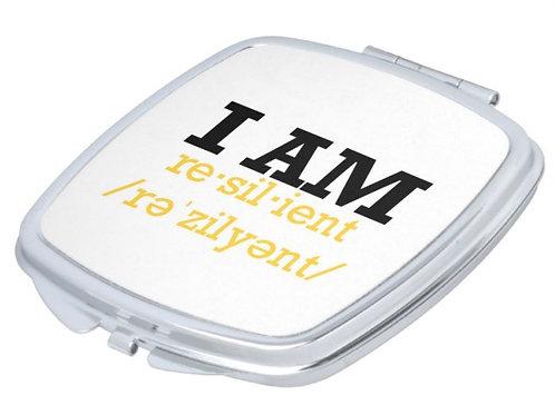"Custom ""I Am Resilient "" pocket mirror"