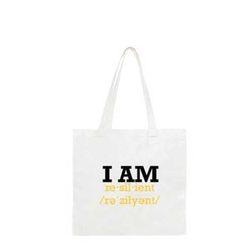 """Custom """"I Am Resilient"""" Recyclable Tote"""