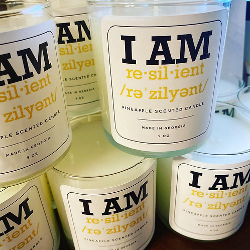 """""""I AM RESILIENT"""" Custom Candles"""