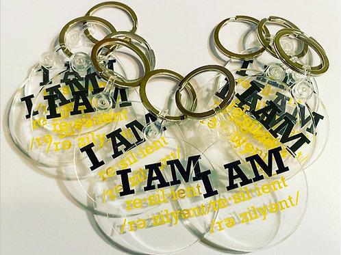 "Custom ""I Am Resilient"" Keychain"
