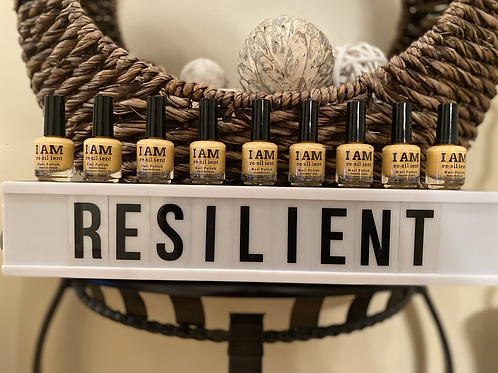 "Custom ""I AM RESILIENT"" Nail Polish"