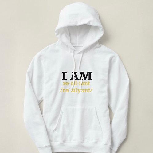 "Custom ""I Am Resilient"" Hoodie Sweatshirt"