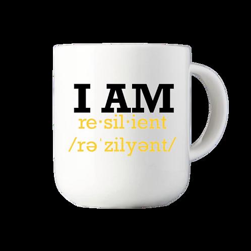 """I AM RESILIENT""Custom Mug - WHITE"