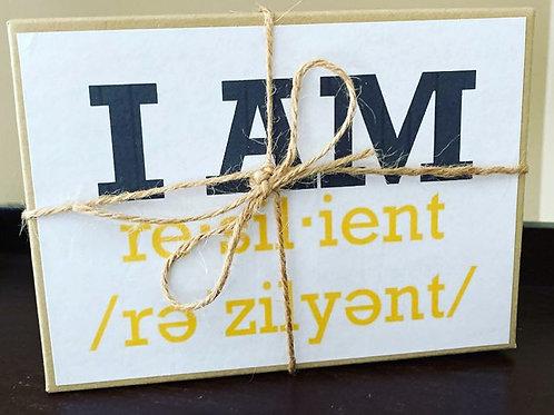 """I AM RESILIENT"" PUZZLE"
